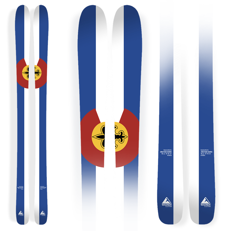 Harris's personalized set of Wagner Custom Skis.