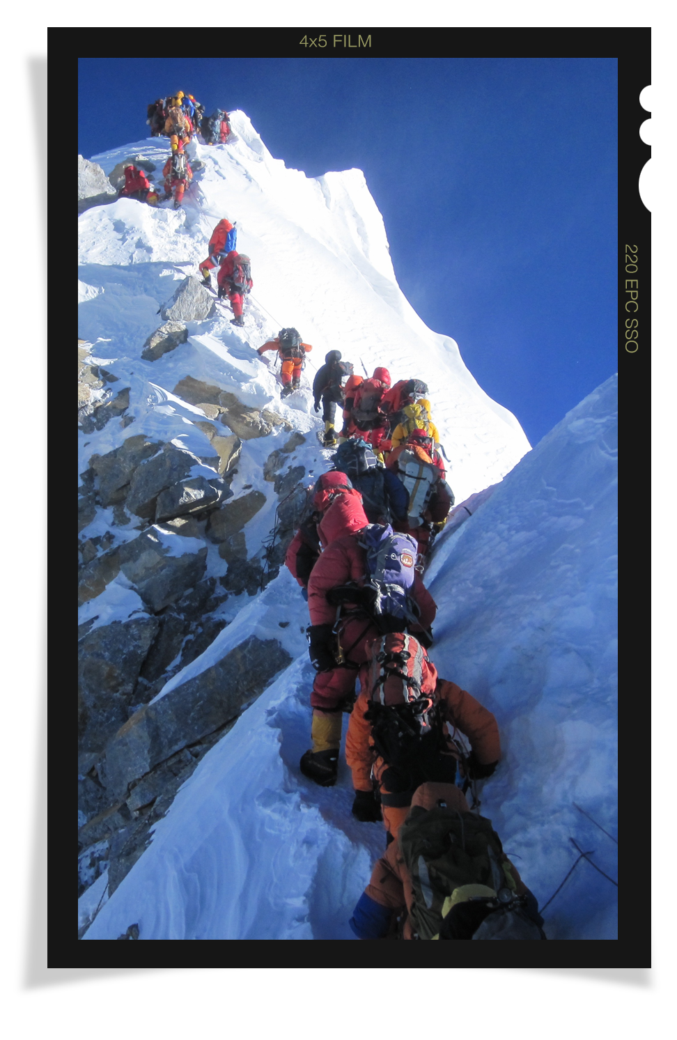 Gordon ascending Everest's famed Hillary Step.