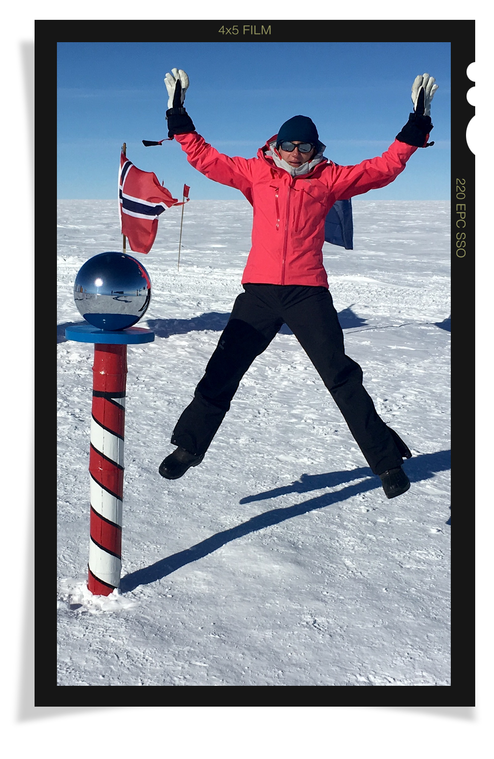 Gordon at the South Pole.