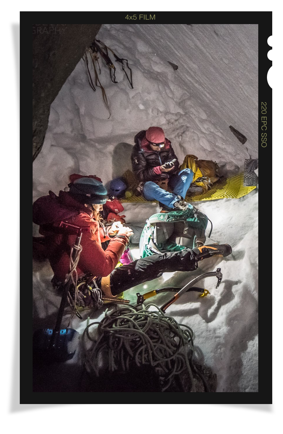 Gordon at camp during Everest climb.
